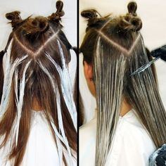 Image result for balayage step by step pictures
