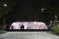 fuente de agua danzante Alameda Central DF México