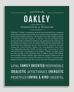 Oakleigh Classic name print hunter green Theo Baby Name, Classic Names, Descriptive Words, Female Names, Susa, Thing 1, Name Art, Place Names, Names With Meaning