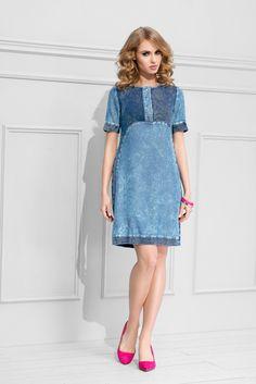 Sukienka z jeansowym nadrukiem ● GrandeSaldi