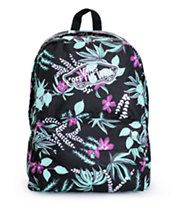 A vibrant floral print pops against the Black exterior of this mid-size backpack that comes equip with ample storage space perfect for carrying all your necessities. Cute Backpacks, Girl Backpacks, School Backpacks, Vans Backpack, Backpack Bags, Vans Bags, Jordans Girls, Backpack For Teens, Shopping