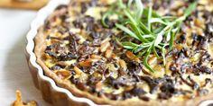 Sienipiirakka Mushroom Pie, Savory Tart, I Love Food, Stuffed Mushrooms, Brunch, Food And Drink, Pork, Beef, Baking