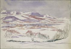 Mountains under snow | Beatrix Potter | V&A Search the Collections