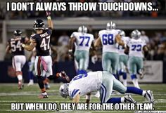 Haha. Dear Cowboys (especially Tony Romo): please continue to make fools of yourselves every football season, so that I may laugh at your pain. Sincerely: Not A Cowboys Fan. |Humor||LOL||Funny sports||NFL||Cowboys meme|