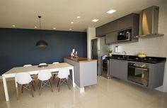 Cozinha / Living Integrado / Sala de Jantar - Projeto By Le Haus Arquitetura