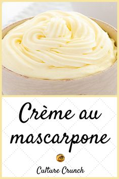 MASCARPONE CREAM: het eenvoudige recept #Cream #eenvoudige #het Mousse Dessert, Desserts With Biscuits, Mini Desserts, Plated Desserts, Gourmet Recipes, Sweet Recipes, Cake Recipes, Gourmet Foods, French Dessert Recipes