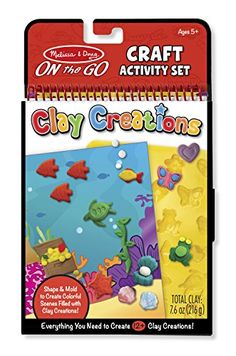 Melissa  Doug On the Go Clay Creations Craft Kit With 6 Clay Colors and Sculpting Tool *** Check out this great product.