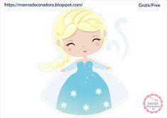 Mamá Decoradora: Kit imprimible Frozen Gratis Frozen Birthday Games, Frozen Party Games, Disney Frozen Party, Frozen Theme, Cute Frozen, Frozen Frozen, Frozen Dessert Table, Elsa Doll Cake, Frozen Banner