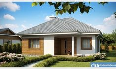 Small but beautiful house plans - Houz Buzz Beautiful House Plans, Beautiful Homes, One Storey House, Cosy House, Three Bedroom House, Gazebo, Shed, Layout, Exterior