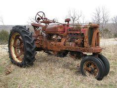 Old farm tractor in Oklahoma.