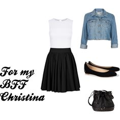 A fashion look from June 2013 featuring cropped shirts, blue jean jacket and flared skirts. Browse and shop related looks. Blue Jean Jacket, Crop Shirt, Flare Skirt, Blue Jeans, Bff, Fashion Looks, Skirts, Polyvore, Jackets