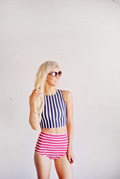 Image of RACER TANKINI-STRIPE