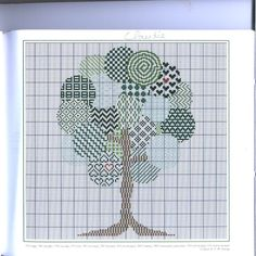 <3 Cross Stitch Tree, Cross Stitch Flowers, Autumn Theme, Cross Stitching, Blackwork, Monochrome, Patches, Embroidery, Gallery