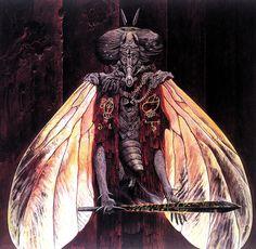 Beelzebub is one of artworks by Wayne Douglas Barlow. Artwork analysis, large resolution images, user comments, interesting facts and much more. Arte Horror, Horror Art, Sci Fi Fantasy, Dark Fantasy, Wayne Barlowe, Les Aliens, Arte Obscura, Demonology, Monster Art