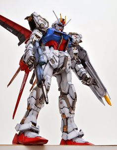 GUNDAM GUY: PG 1/60 GAT-X105 Strike Gundam & Skygrasper - Painted Build