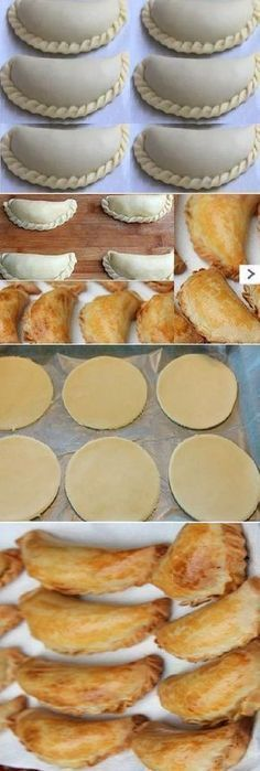 HOME MASS: for Empanadas de Oven recipe easy to prepare … – Dinner Recipes Mexican Dishes, Mexican Food Recipes, Dessert Recipes, Masa Recipes, Salty Foods, Peruvian Recipes, Pan Dulce, Latin Food, Bakery