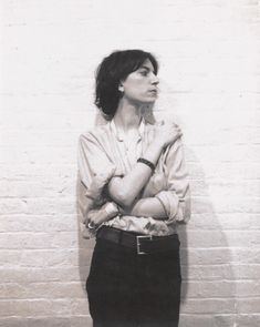 Patti Smith, ca 1973  Robert Mapplethorpe polaroid