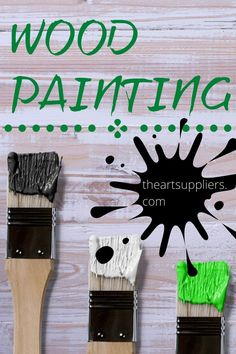 Wood painting  Paint as wood stains  Wood painting techniques   Painting wood  Paint on wood diy Wood Painting Techniques, Oil Painting For Beginners, Types Of Painting, Diy Painting, Painting On Wood, Paint Brush Sizes, Art Inspiration Drawing, Paint Drying, Paint Cans