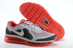 Light Grey Red Nike Air Max 2014 Men's Running Shoes