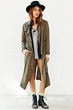 Silence + Noise Drapey Trench Coat