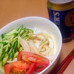 暑いんだもの! - 9件のもぐもぐ - サラダうどん by 8hachiko