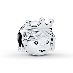 Live out your fairytale with this charming sterling silver charm from the Pandora Fall 2016 collection of a pretty princess. It will add a whimsical touch to your collection or make a marvelous gift for your own little princess. Pandora Princess Charm, Silver Cleaning Cloth, Silver Charms, Sterling Silver Jewelry, Silver Ring, Pandora Charms, Jewelry Stores, Jewelry Design, Charmed