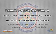 Santa Filomena Atual: Reunião com 7º BPM sobre segurança do Município de...