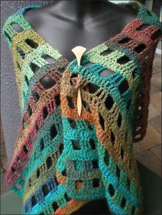 Noro Stole Pattern, easy.. Only double and triple crochets..just decide how wide I want..