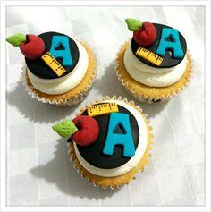 Cupcakes del Día del Maestro, de Yogurth y Moras azules!✏️