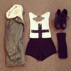 fashion, outfit, and style Bild Grunge Hipster Fashion, Hipster Chic, Teen Fashion, Love Fashion, Fashion Outfits, Womens Fashion, Fashion Ideas, Fashion Black, Punk Fashion