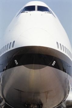 Nase einer Boeing 747-257 der Swissair; LBS_SR04-001833