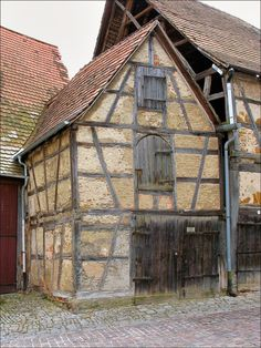 Medieval half-timbering, Bad Wimpfen, Germany by rudiger51.deviantart.com on @DeviantArt