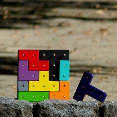 Geopuzzle - tetris (modré téčko)