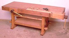 Traditional Workbench - Jeff Greef Woodworking- Includes plans!