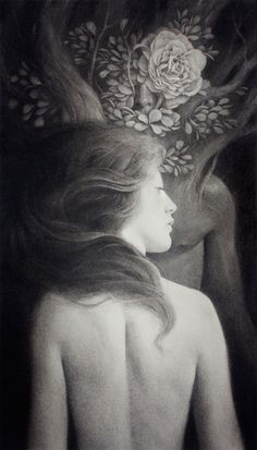 Jeremy Enecio - First of Many | charcoal and graphite on paper. °