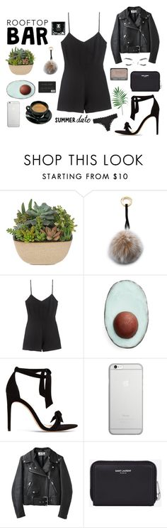 """""""Rooftop bar date"""" by liahens ❤ liked on Polyvore featuring Mischa Lampert, Dirty Grl, Alexandre Birman, Native Union, Acne Studios, Chanel, Yves Saint Laurent and Calvin Klein"""