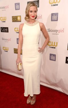 Emily Blunt in Miu Miu at the 2013 Critics' Choice Awards