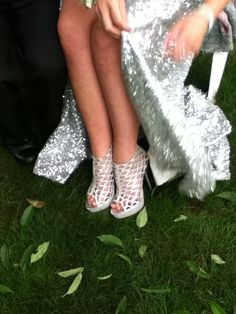 Prom shoes: silver, high heels
