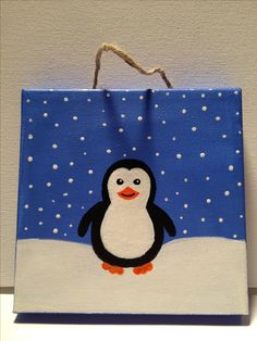 Penguin Painting on canvas