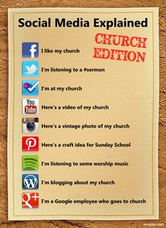 Social media explained for churches. The Google+ one is funny.  LOVE it!  :-)  #chsocm