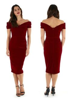 Our bestselling Fatale Pencil Dress has been reworked for the festive season in red velvet! #fashion #style #velvet #elegant #chic #classic #sophisticated #retro #vintage #newin #AW15 #theprettydress #theprettydresscompany