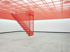 Do-Ho Suh (1962 - )  Staircase-IV, 2004    - Translucent nylon  - Dimensions variable    Lehmann Maupin Gallery