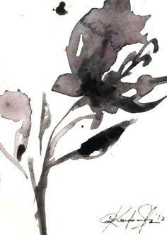 Brushstroke Floral...Series No.12 ... Original by Kathy Morton Stanion
