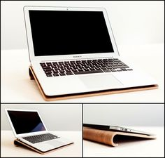 Design Laptop stand. Nordic Appeal home office with sustainable wood. Designed & made in Denmark.