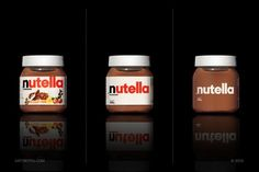 Minimalistic packaging design of famous products.
