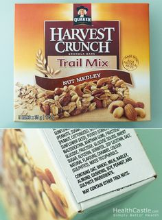 It pays to read labels! Who would have thought this trail mix bar contains allergens like milk, soy, and sulphites?