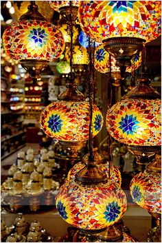 Turkish Lanterns, Grand Bazaar, Istanbul, Turkey