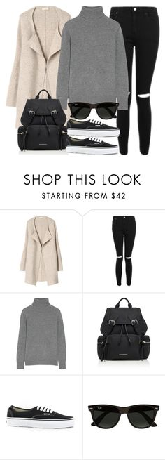 """""""Sin título #14368"""" by vany-alvarado ❤ liked on Polyvore featuring Topshop, Equipment, Burberry, Vans and Ray-Ban"""