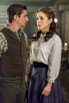 Daniel Lissing & Erin Krakow in When Calls the Heart (2014, Hallmark TV Series) Credit: Copyright 2013 Crown Media United States,