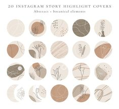 Beige Highlights, Story Highlights, Instagram Story Template, Instagram Story Ideas, Line Art, Art Template, Free Instagram, Social Media Icons, Instagram Highlight Icons